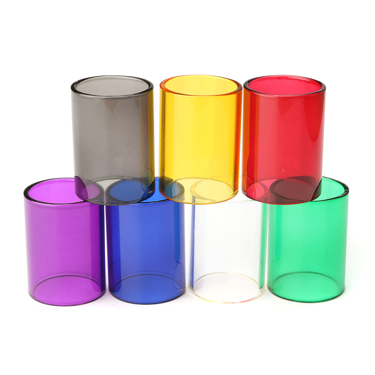 Replacement Transparent Pyrex Glass Tube Cap Tank for GeekVape 22mm RTA 7 Colors