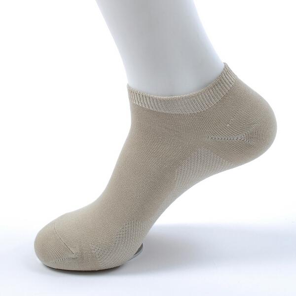 Mens Spring Summer Thin Bamboo Fiber Solid Color Casual Comfortable Boat Socks