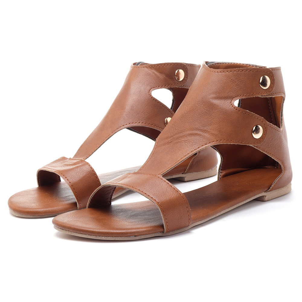 Gladiator Thong Casual Zipper Casual Sandals