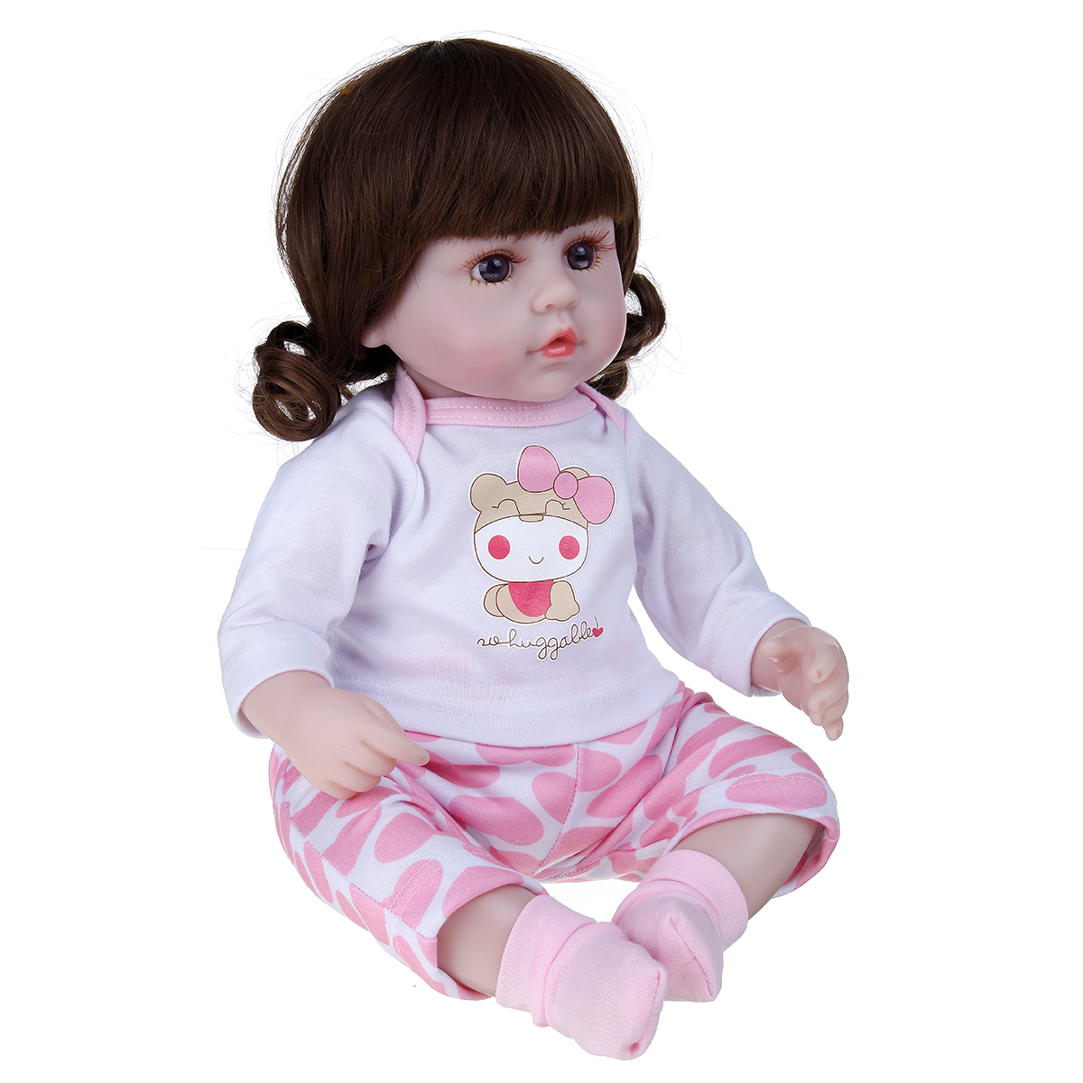 42CM Multi-optional Simulation Silicone Vinyl Lifelike Realistic Reborn Newborn Baby Doll Toy with Cloth Suit for Kids Birthday Gift