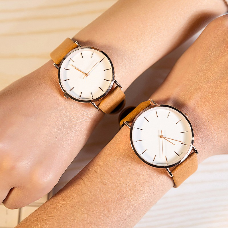 Simple Design Couple Wrist Watch