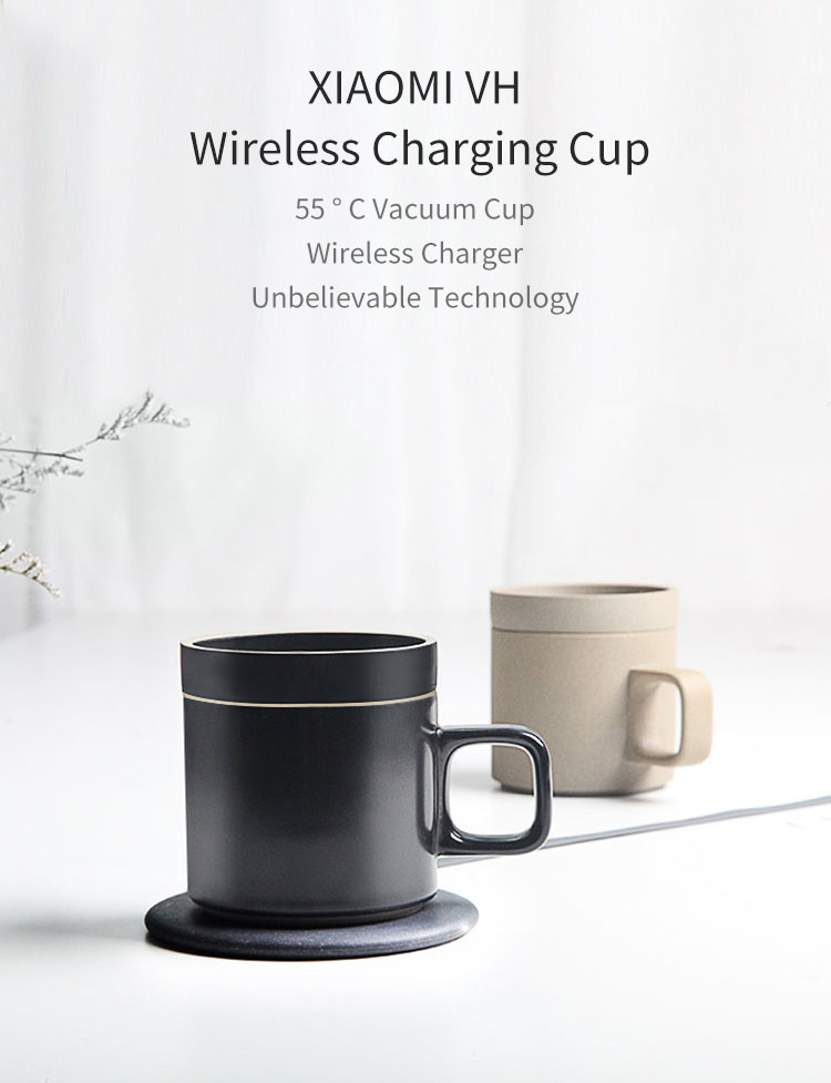 XIAOMI VH Wireless Charging 55 °C Thermos Cup Electric Cup Coffee Cup Japanese Style Mugs Ceramics Coffee Mug With Saucer Drinkware Set