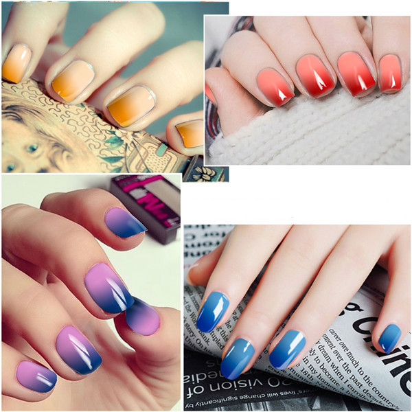 DECOUVRIR Temperature Change Nail UV Gel Color Changing Polish Gradient Thermal Chameleon Cute