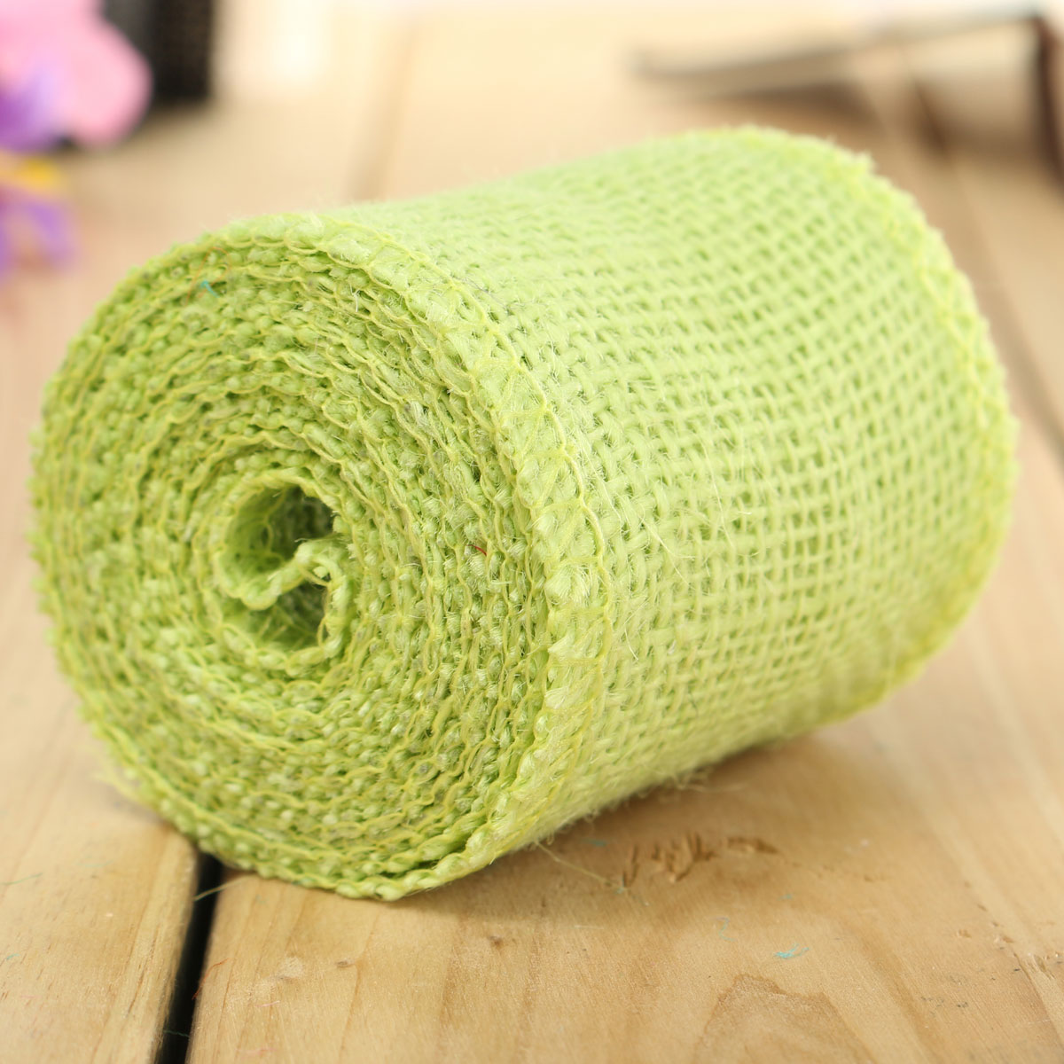 Colorful Handicraft Vintage Jute Hessian Braid Lace Ribbon Wedding Party Wrapping Decoration