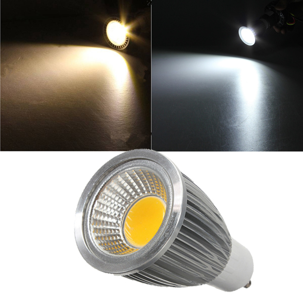 GU10 7W 85-265V White/Warm White Energy Saving LED COB Spotlightt Lamp Bulb