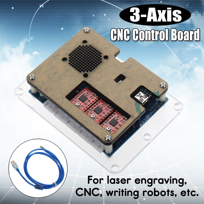 3-Axis Stepper Motor Control Board Driver For DIY Laser Engraver Machine GRBL