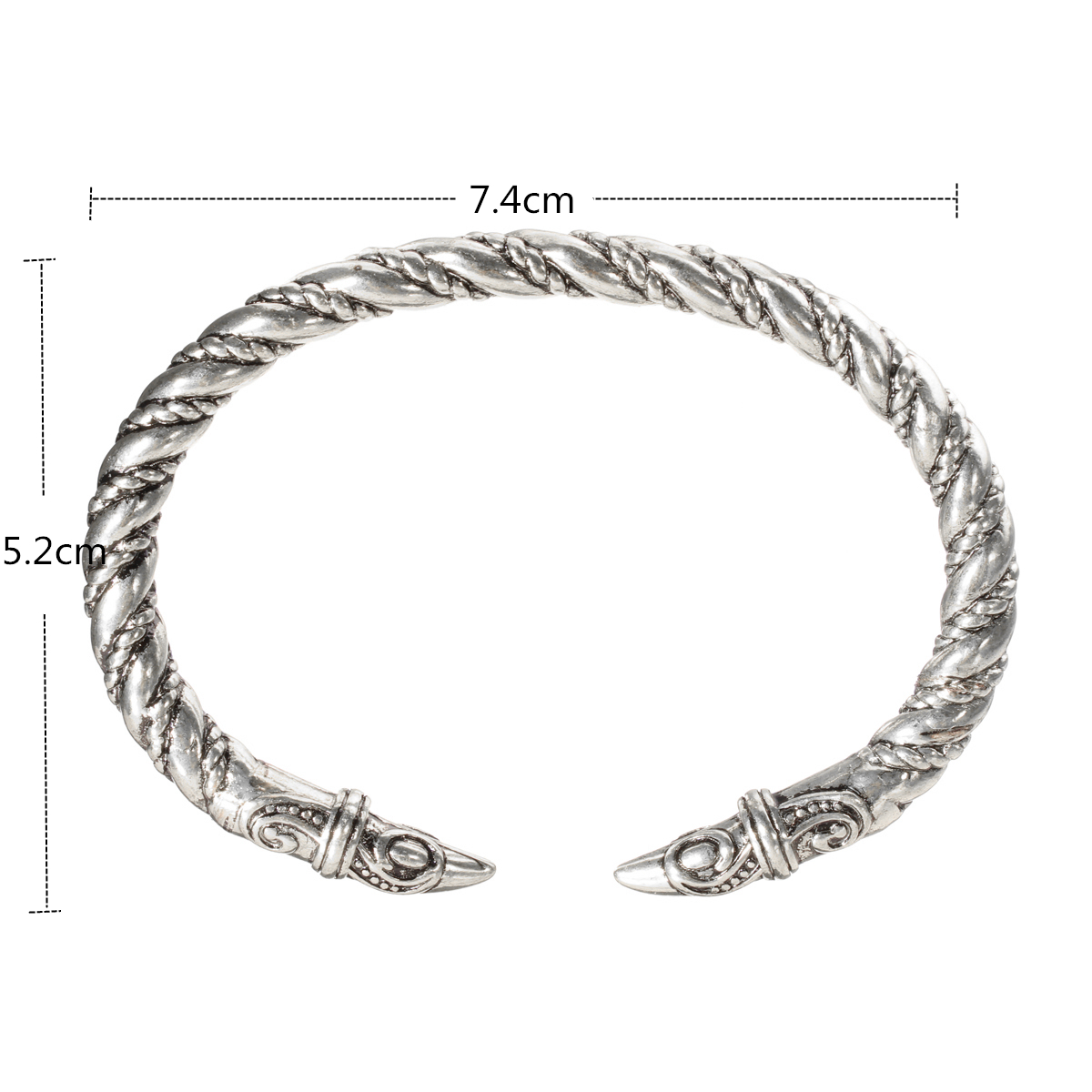 Men Punk Alloy Large Bangles Viking Bracelet