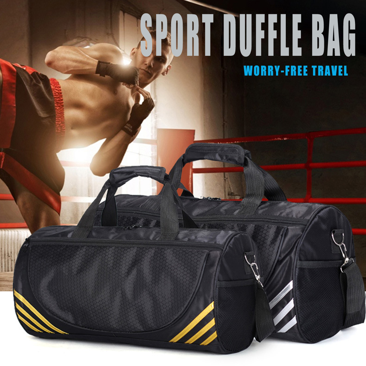 20L Sport Duffle Bag Pack Gym Travel Handbag Trainning Exercise Yoga Shoulder Strap Pouch