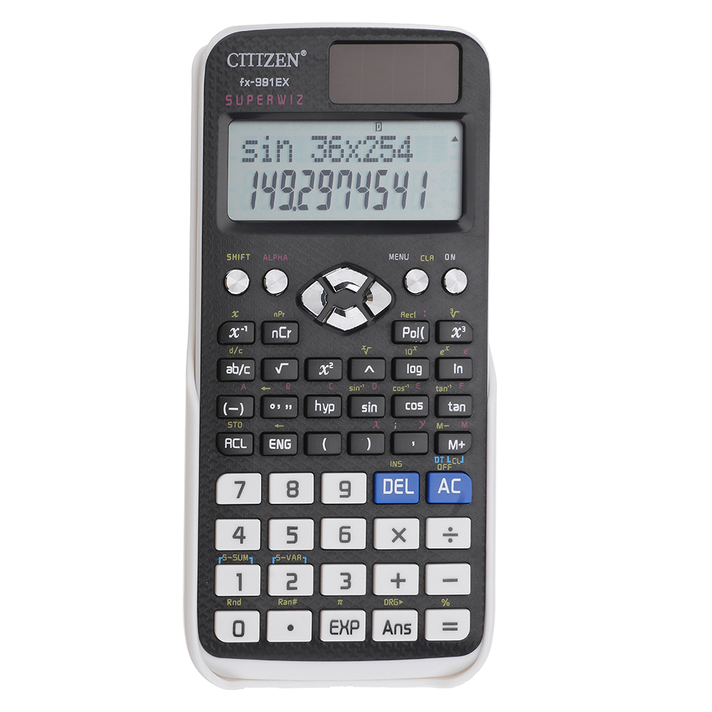 GTTTZEN FX-991EX Calculator Desktop Dual Power 240 Function Scientific Calculator Solar Battery
