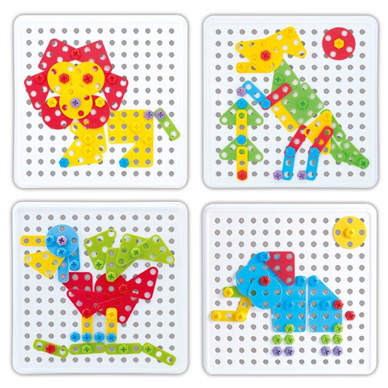 Animal Assembly Model Kit Block Toys Educational Children DIY Toy