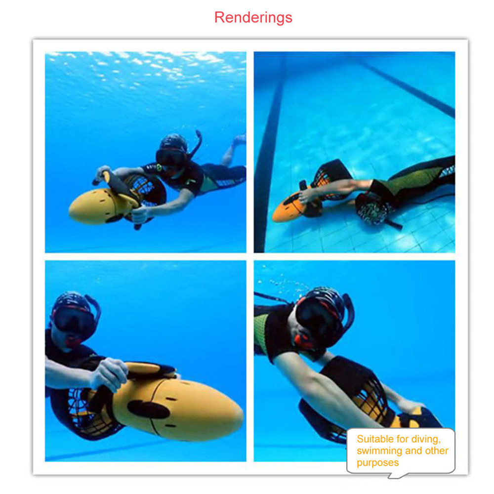 Waterproof 300W Electric Underwater Sea Scooter Dual Speed ​​Propeller Drving Pool Rc Submarine Toy - Photo: 9