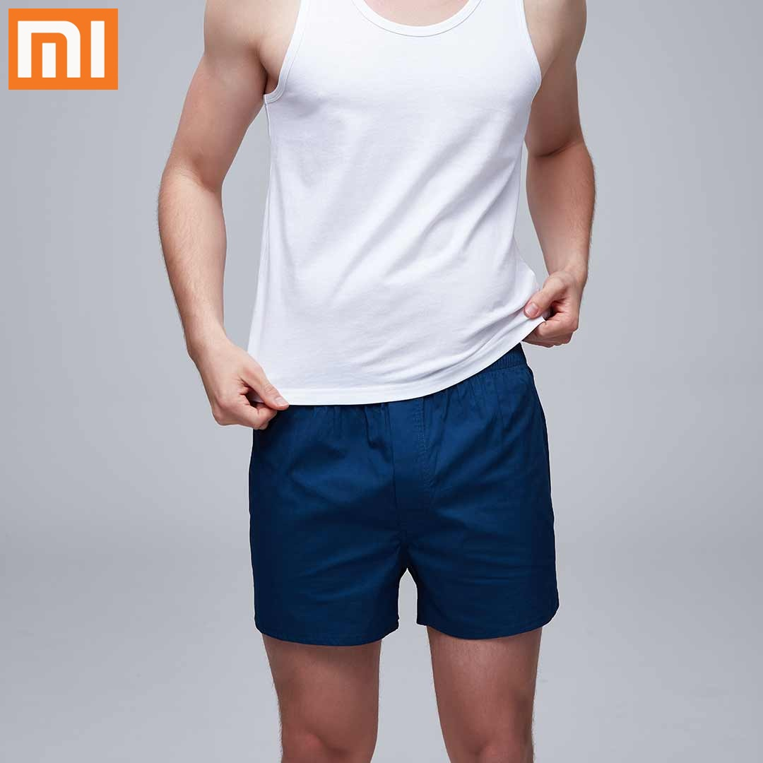 Xiaomi COTTON SMITH 100% Cotton Sports Fitness Shorts Skin-Friendly Quick-Drying Casual Beach Shorts