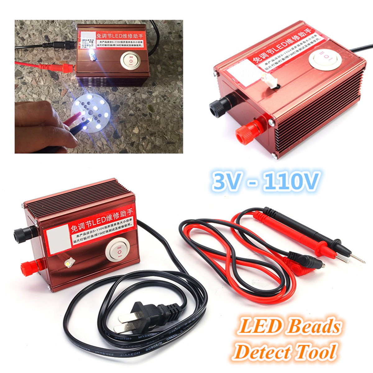LED Lamp Backlight Tester LED Beads Detect Repair Tool LED Strips TV Monitor Laptop Detect
