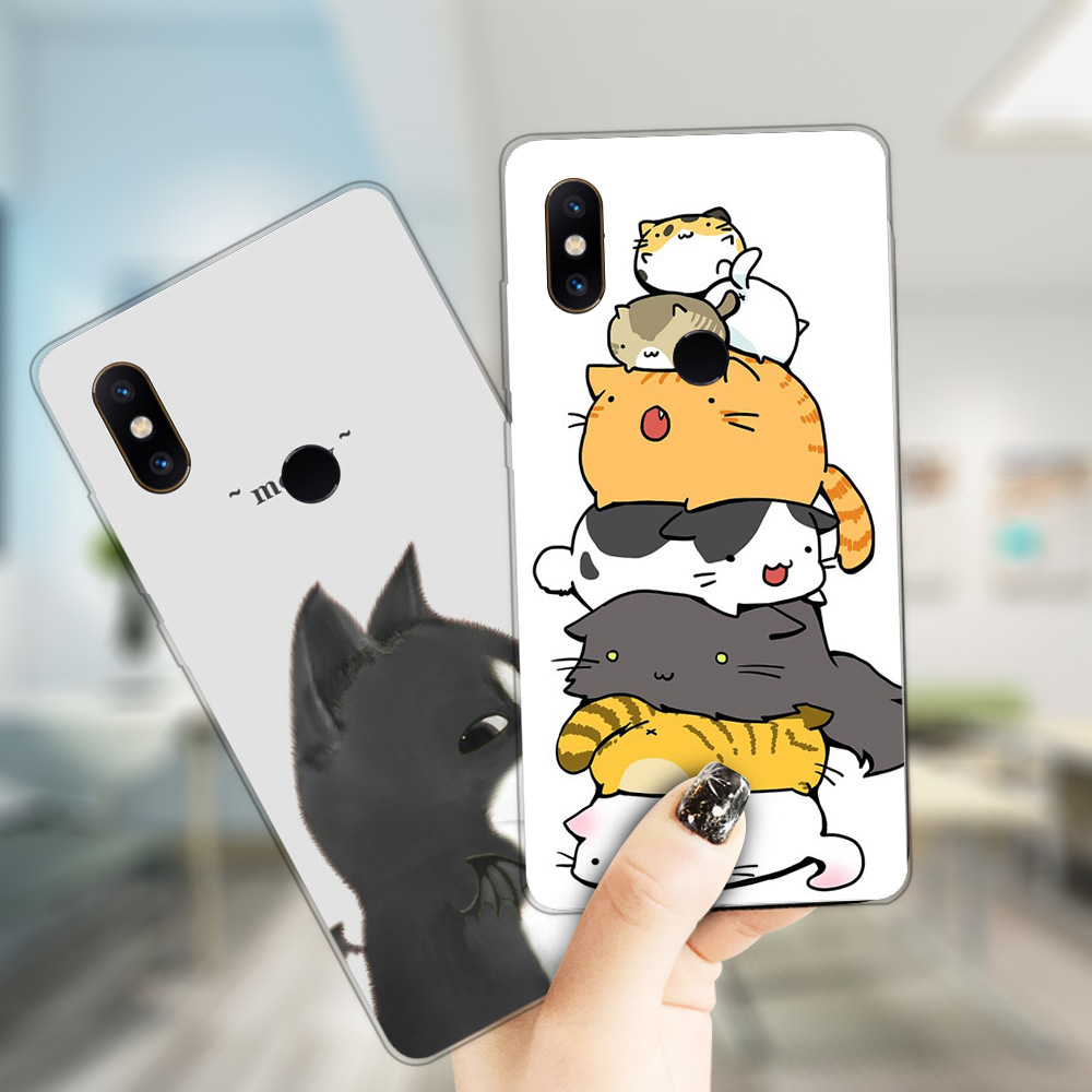 Bakeey Ultra Slim Cartoon Painting Soft TPU Protective Case for Xiaomi Mi MIX 2S