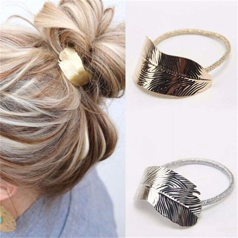 Fashion Leaf Hair Band Rope Hair Tie Hair Accessories