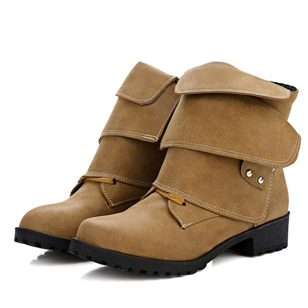 US Size 5-12 Women Fashion Soft Sole Comfortable Lace Up Ankle Boots