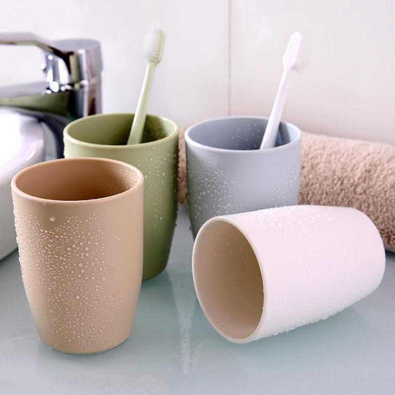 Honana Home Bathroom 350ml Simple Design Couple PP Material Tooth Mug Brush Holder Washing Tooth Cup