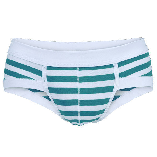 Six Colors Mens Fashion Cotton Solid Striped Underwear Breathable Briefs