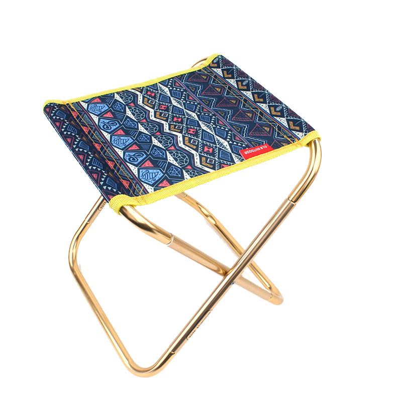 Bearing 100KG Folding Chair Hiking Camping Portable Stool Outdoor Picnic Barbecue Small Seat