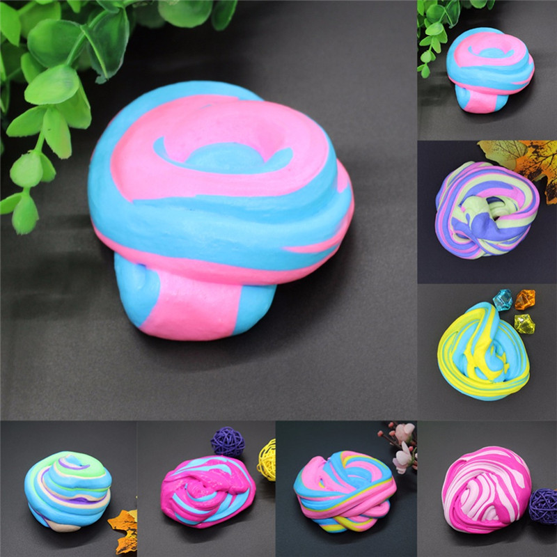 60ml Cotton Mud DIY Stress Relief Magic Fluffy Slime Sc