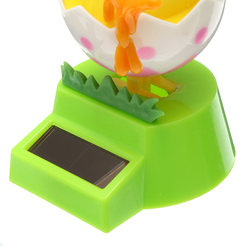 Solar Powered Flip Swing Flap Chicken Car Toy Decoration