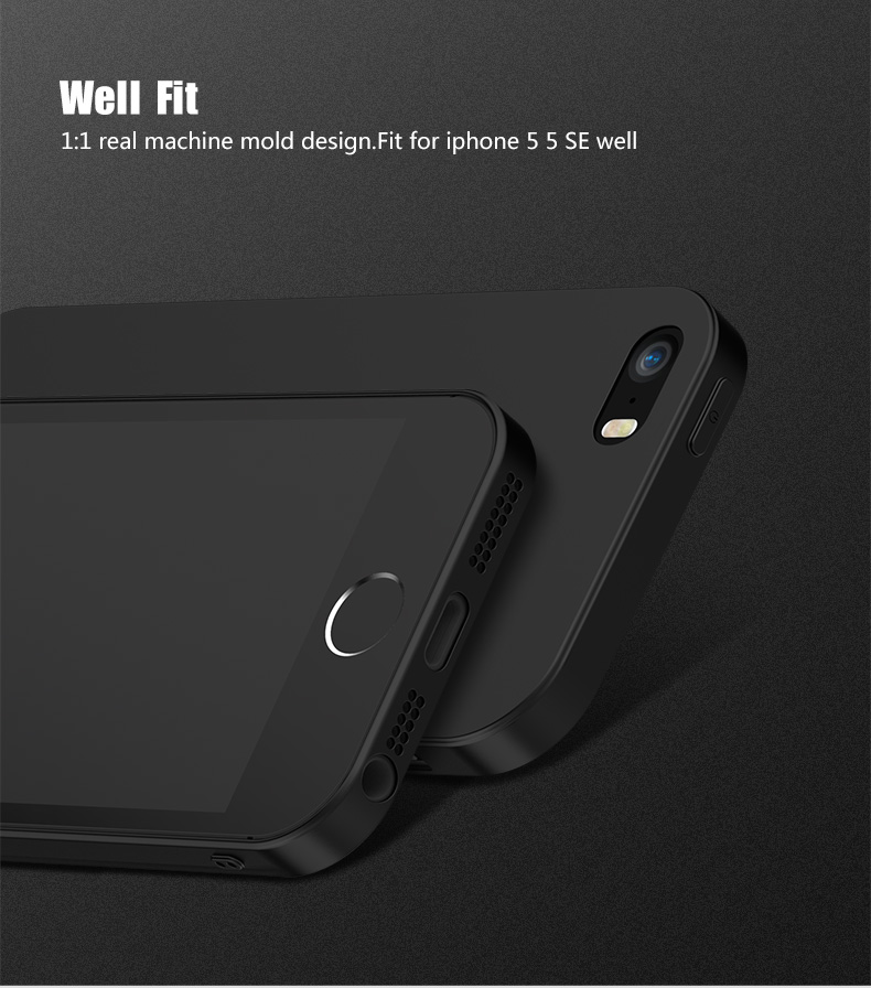 CAFELE Micro Scrub Ultra Thin Soft TPU Silicone Case for iPhone 5 5S SE