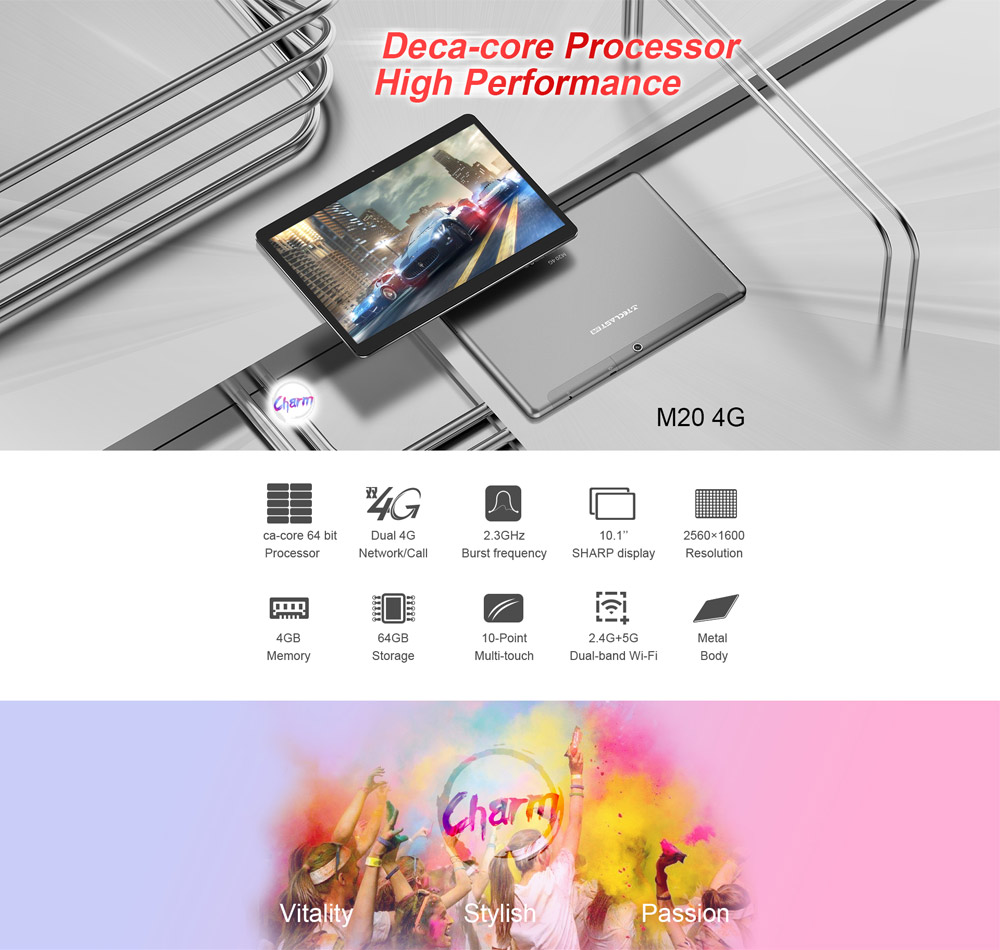 Original Box Teclast M20 MT6797D X23 Deca Core 4GB RAM 64GB Android 8.0 Dual 4G 10.1 Inch Tablet