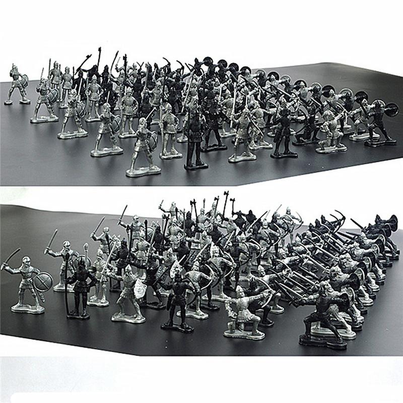 60PCS Sliver Black Mixing Static Model Toys For Kids Children Gift