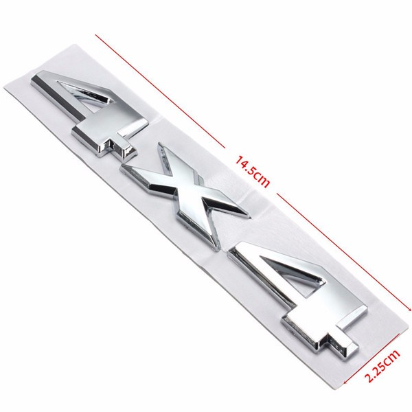 Car 3D New 4 X 4 Sticker Chrome Logo Decal Emblem for JEEP Dodge ABS