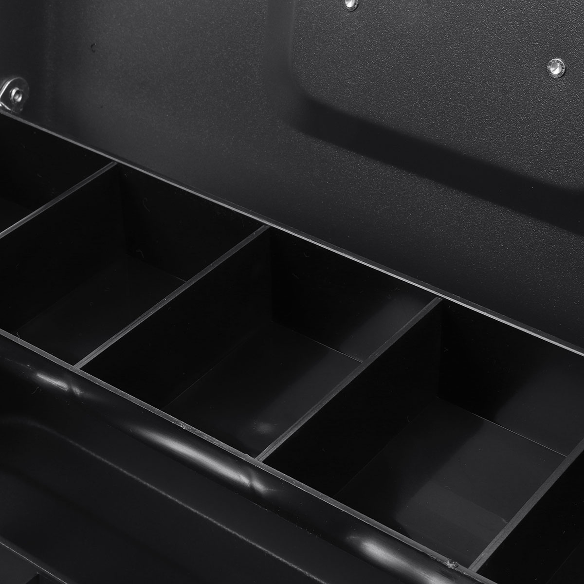 4 Bill 5 Coin Cash Drawer Tray Storage Box for Cashier Money Security Lock Safe Box