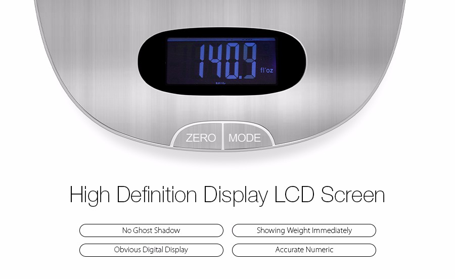 Digoo KC-S1 High End Electronic Kitchen Scale 5kg Multi-unit Food Liquid Mini Scale Lcd Display