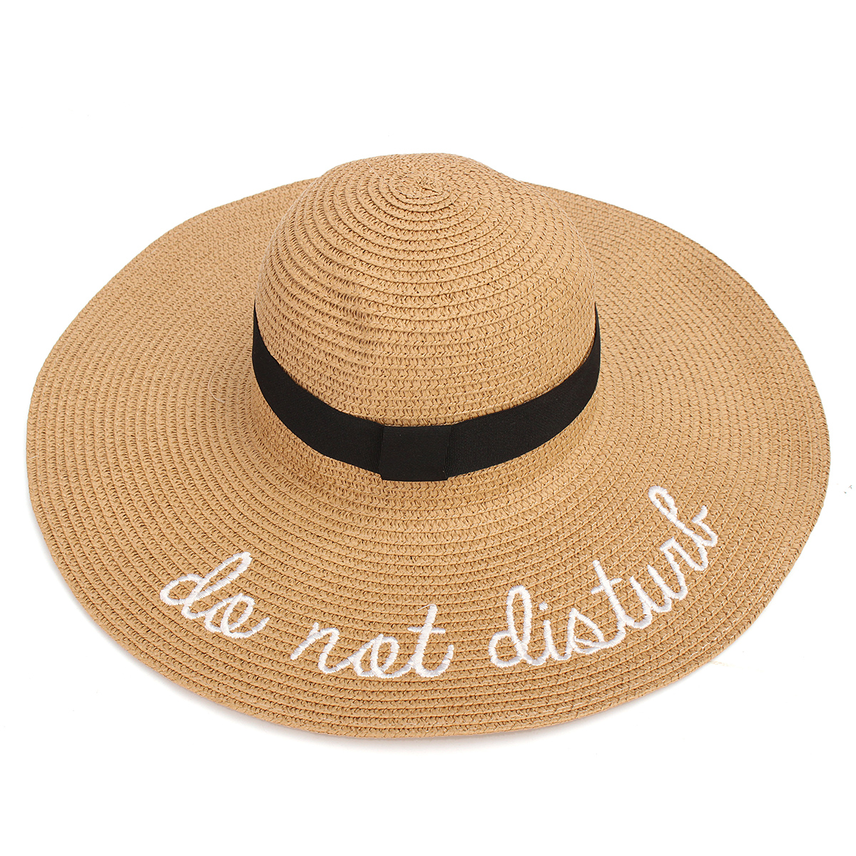 Women Ladies Wide Brim Foldable Sun Hats Large Straw Summer Holiday Beach Caps