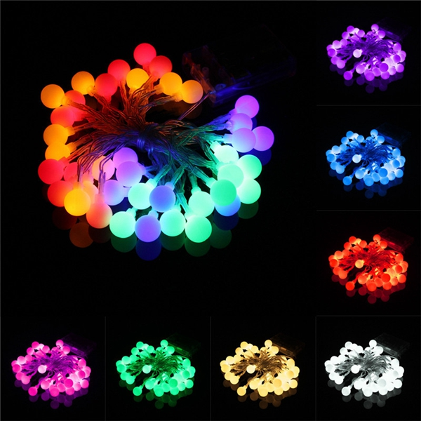 4M 40 LED Battery Powered Colorful Ball Fairy String Light Wedding Party Decor
