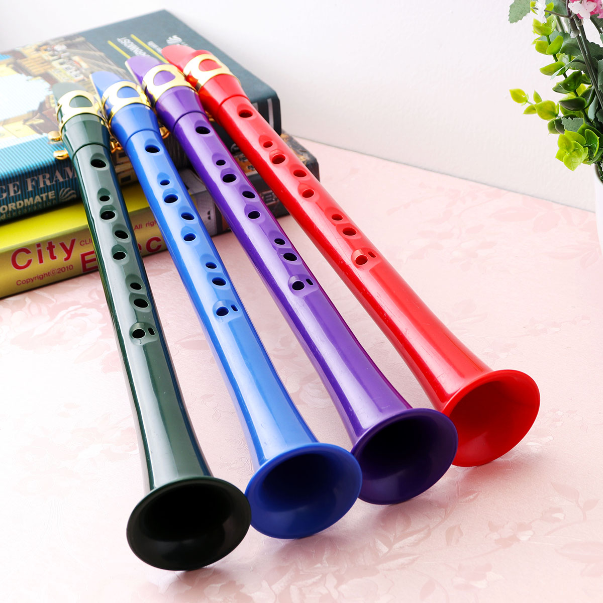Mini Pocket Saxophone C Tune Colorful Portable Little Sax with Carrying Bag for Begginers