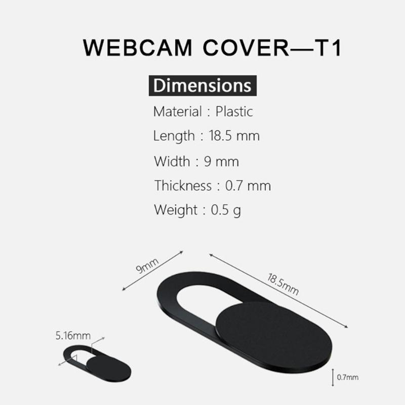 Ultra Thin Webcam Cover Privacy Protection Shutter Sticker Cover Case For Smartphone Tablet Laptop