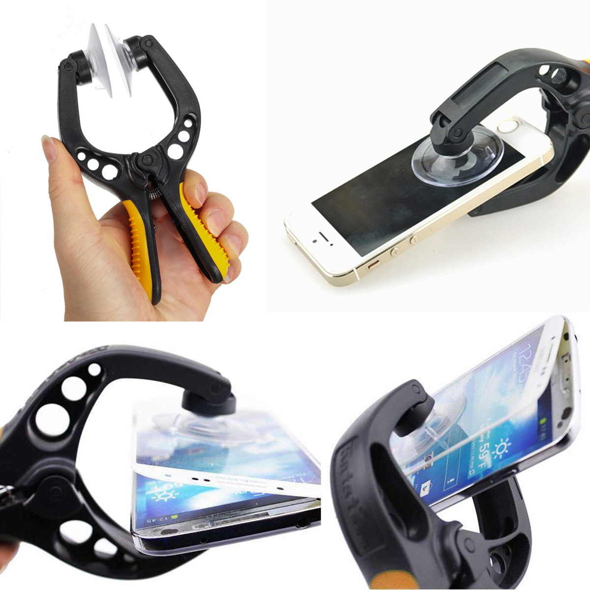 LCD Screen Opening Pliers Repair Tool with Super Strong Suction Cup Platform for Cell Phone