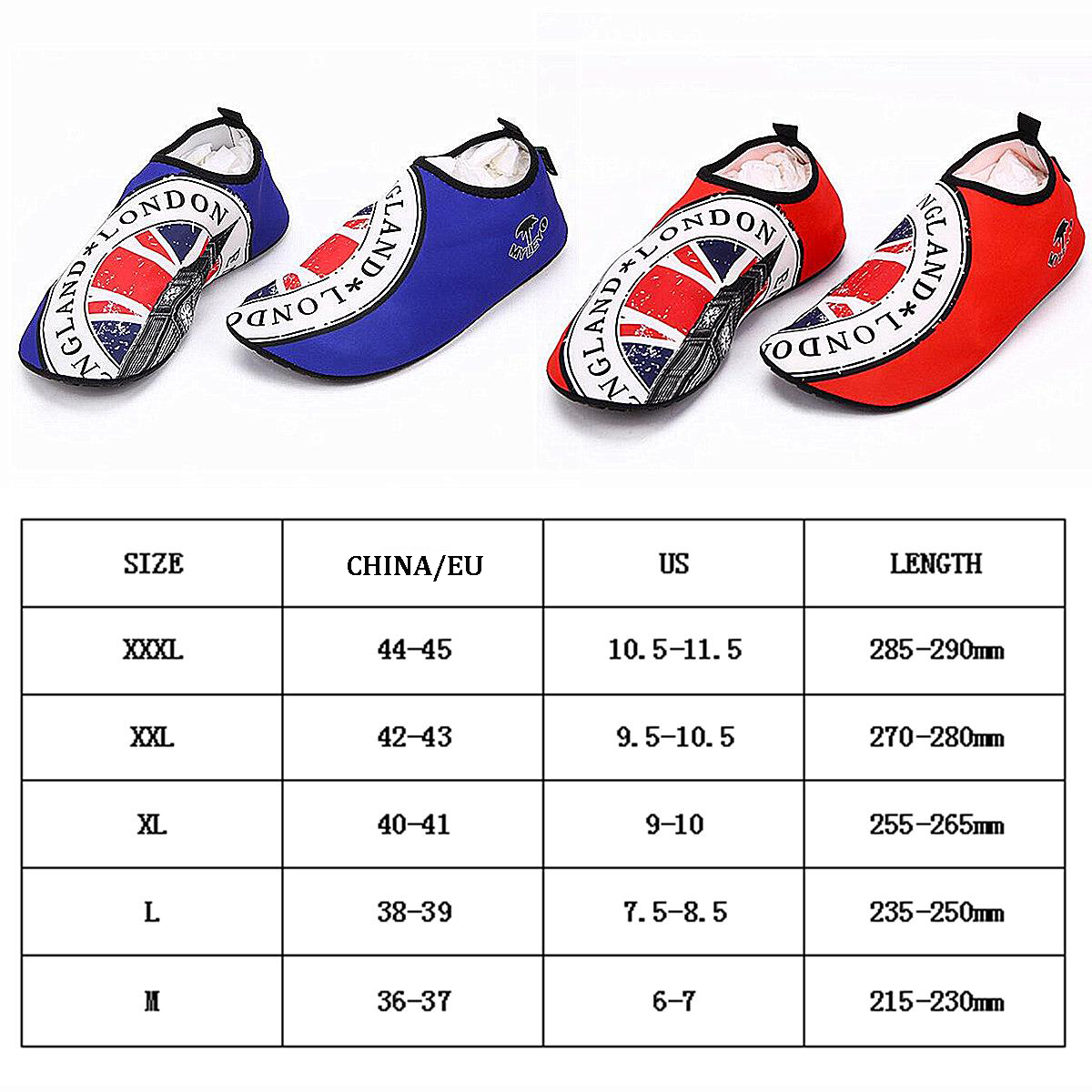 Plus Size Men Women Surf Beach Shoes Water Sports Breathable Soft Socks Swim Diving Training
