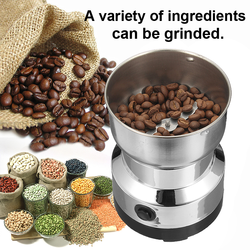Electric Stainless Steel Home Grinding Milling Machine Coffee Bean Grinder Kitchen Tool