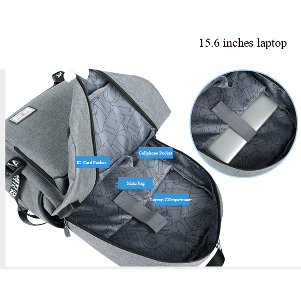 Men 19 Inches Laptop Backpack With USB Charging Port