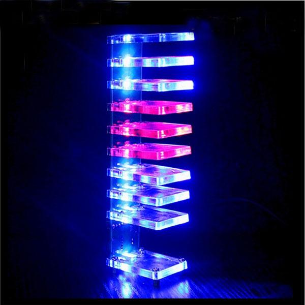 DIY Dream Crystal Electronic Column Light Cube LED Music Voice Spectrum Kit