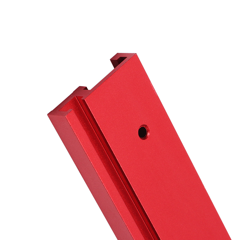 Machifit 600mm Red Aluminum Alloy T-track Woodworking 45x12.8mm T-slot Miter Track