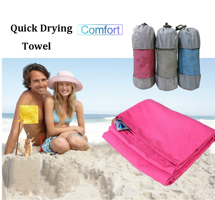 Bluefield 130x80CM Outdooors Quick Drying Microfiber Towel Travel Beach Swim Bath Ultralight Face Washcloth