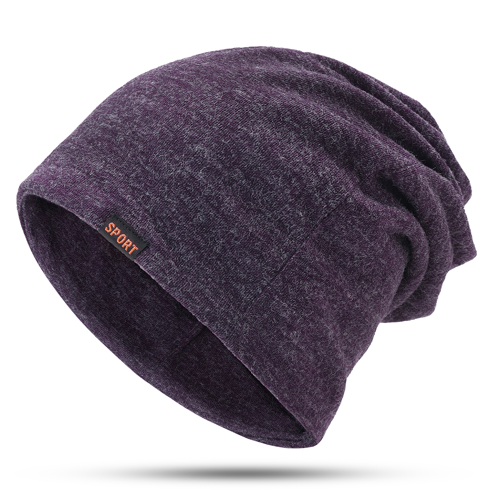 Mens Womens Winter Cotton Multifunctional Beanie Cap Scarf