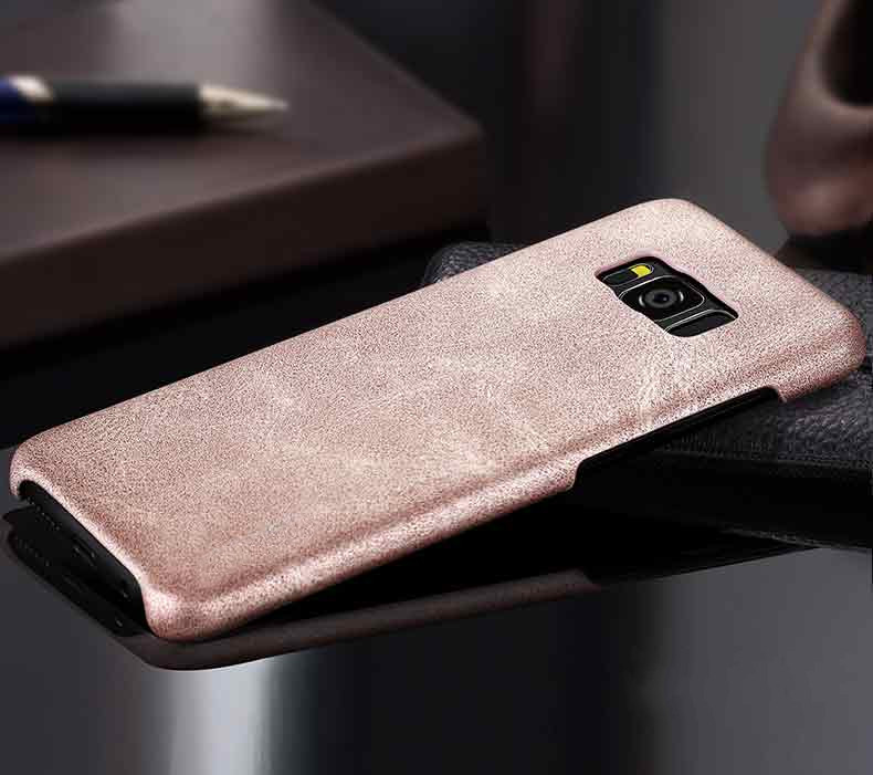 Bakeey™ Retro Soft PU Leather Ultra Thin Shockproof Case Back Cover For Samsung Galaxy S8 Plus