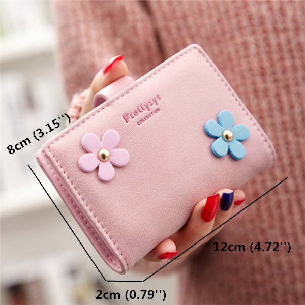 Flower Design Hasp 20 Card Holder Candy Color Matte Business ID Credit Card Case