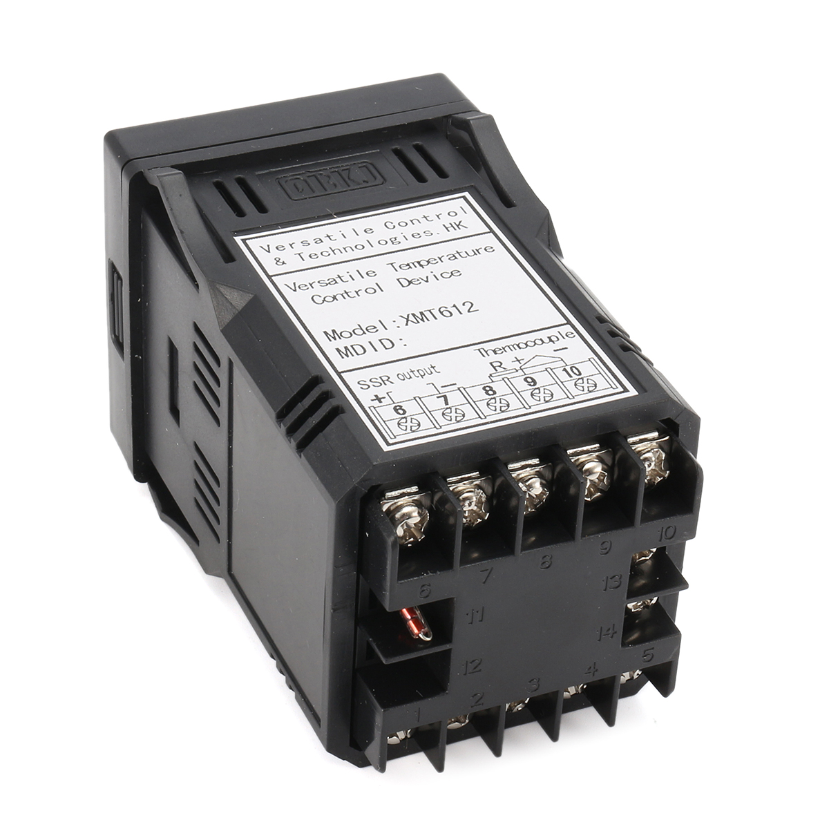 XMT612 Dual Digital F/C PID Celsius Fahrenheit Temperature Controller with K Type Thermocouple