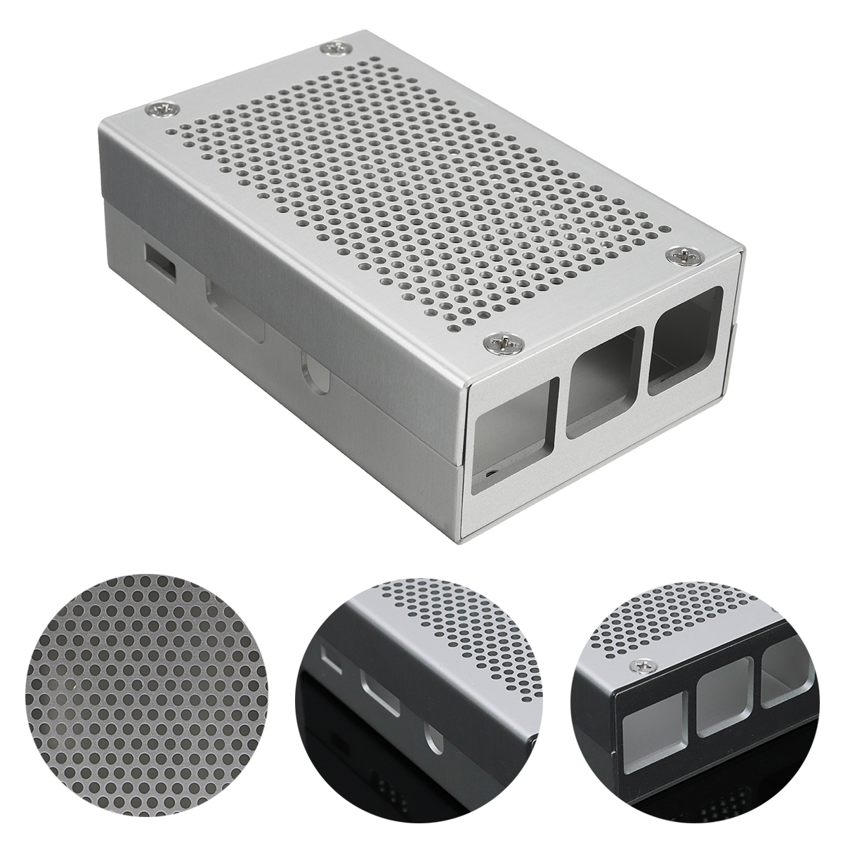 Aluminum Silver Case Metal Enclosure For Raspberry Pi 3 Model B/2 Model B/B+