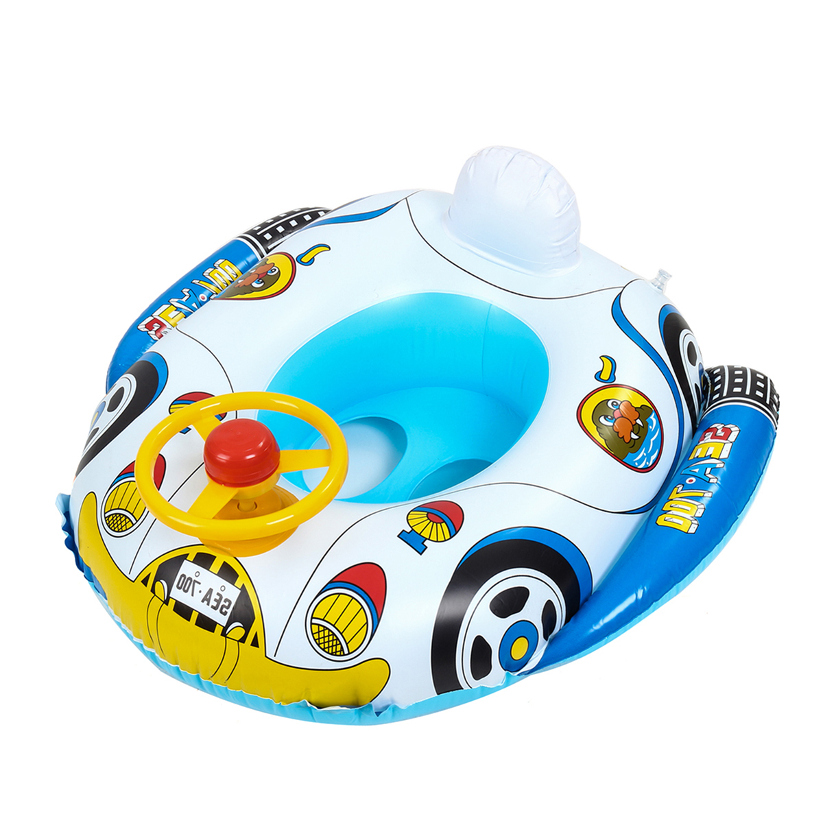 Baby Car Swimming Water Float Boat Pool Beach Inflatable Kid Toy Gift