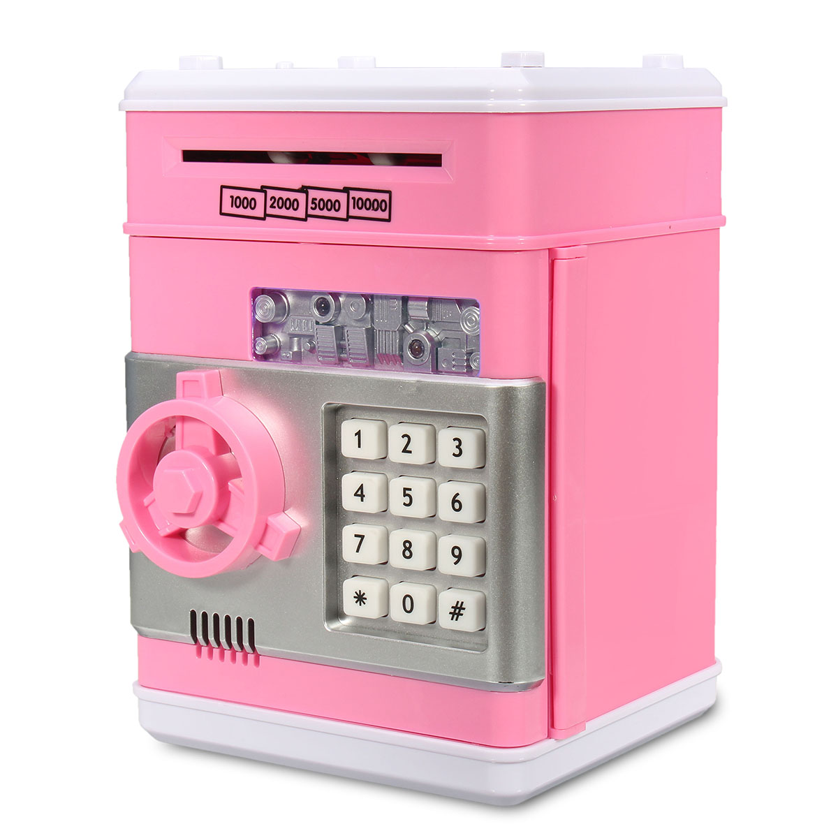 Mini Piggy Bank Electronic Password ATM Money Box Safety Machine Kids Childrens Safe Box