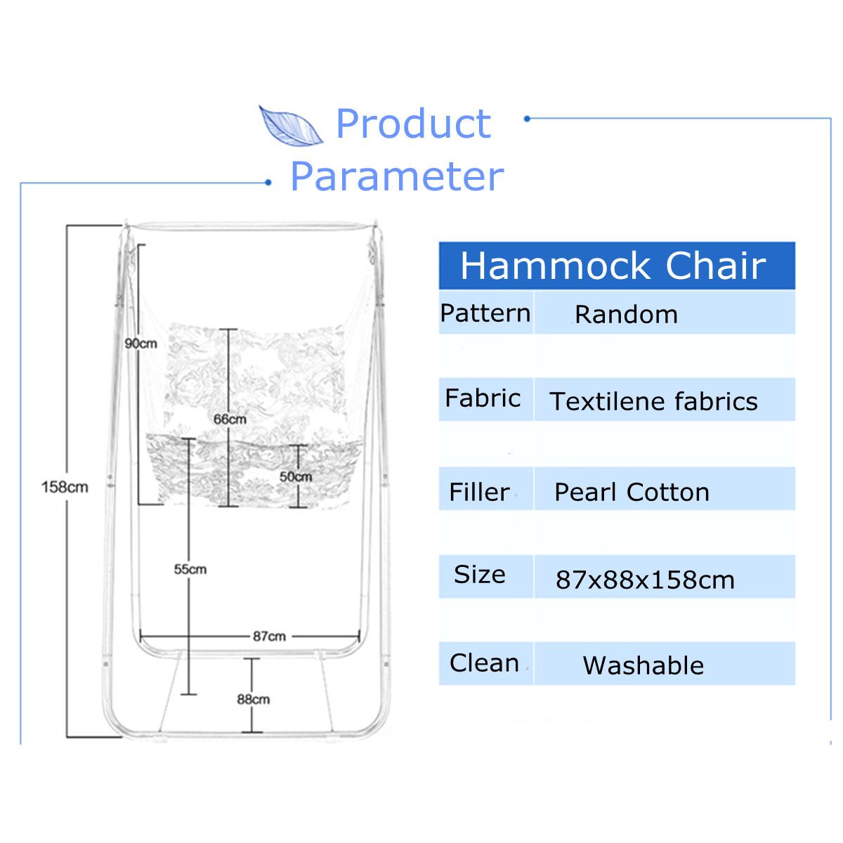 Hammock Hanging Chair Leisure Swing + Steel Foot Holder Garden Outdoor Camping